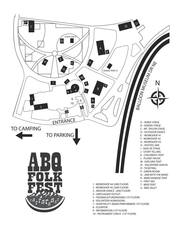 Map of Festival Grounds